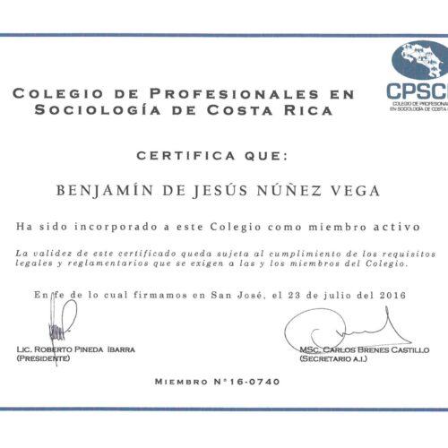 Colegio de Profesionales en Sociologia